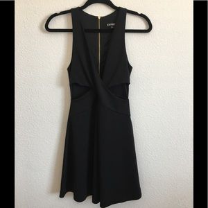 Express Dress Sz 2  Black Fit and Flare Sleeveless
